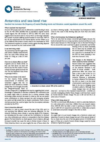 Antarctica and sea-level rise thumbnail