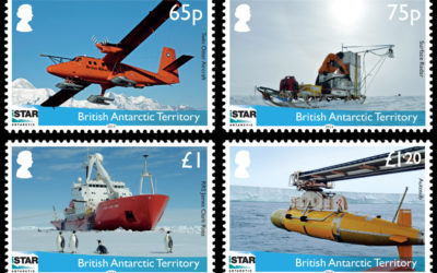 The set of four postage stamps