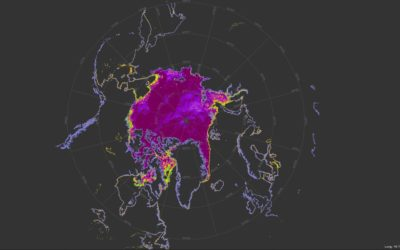 A graphical image map of the Arctic
