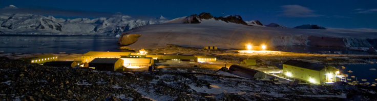 Rothera Research Station in the winter
