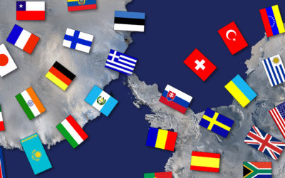 Flags of the Antarctic Treaty Nations as at June 2015