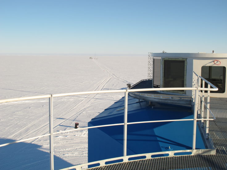 View towards the CASLab from Halley VI station (photo credit: Nick Owens)