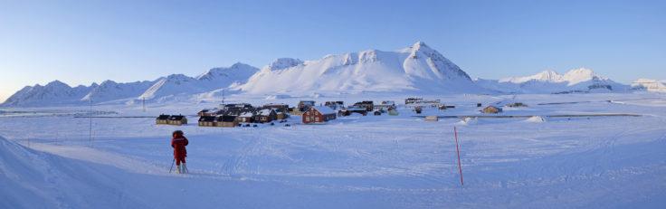 Ny-Ålesund International Science Village on Svalbard in the high Arctic