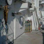 RRS James Clark Ross deck storage area
