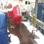 RRS James Clark Ross foredeck starboard