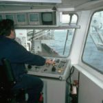 RRS James Clark Ross winch control room side gantry controls
