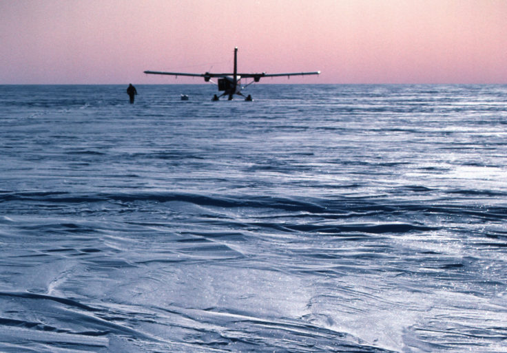 BAS Twin Otter aircraft on the Antarctic Ice Sheet