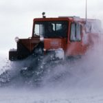 Sno-Cat at speed at Halley