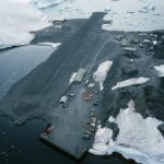 The runway at Rothera from the air