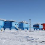 Halley VI Research Station on the Brunt ice shelf Antarctica