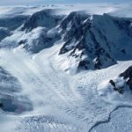 Mountains and glacier on the Antarctic Peninsula