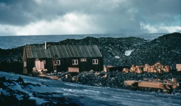 Base N, Anvers Island, 1955-6. (Photographer: Alexander Rennie; Archives ref: AD6/19/3/C/N1)