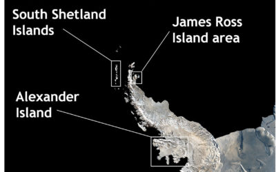 Principal fossil localities on the Antarctic Peninsula