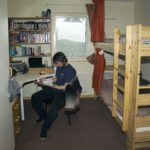 Bedroom accommodation at Rothera Research Station.