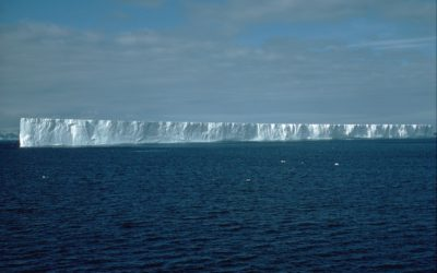 Tabular iceberg off the South Orkney Islands