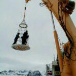 RRS Ernest Shackleton crane