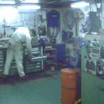 RRS Ernest Shackleton engineers' workshop