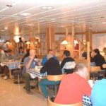 RRS Ernest Shackleton mess room