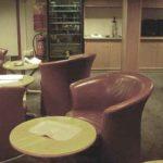 RRS Ernest Shackleton red room (lounge) view 2
