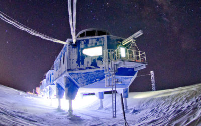 Halley VI Research Station in winter