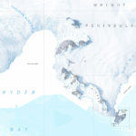 Segment of the Ryder Bay published map showing Rothera Point and Rothera Research Station, with aerial photograph backdrop - this map won a prize in the 2007 British Cartographic Society Stanfords map design competition.