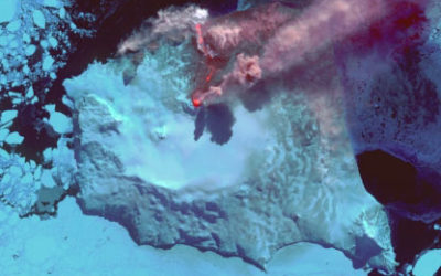 Volcanic eruption on the South Sandwich Islands captured by the ASTER satellite instrument