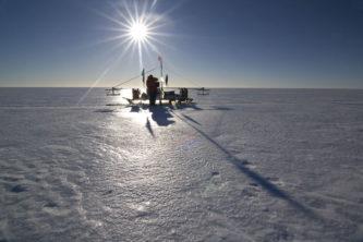 A sledge on the ice
