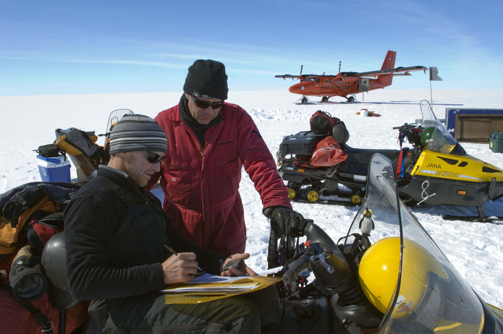 BAS field party on the Larsen Ice Shelf (Photo: Pete Bucktrout, British Antarctic Survey)
