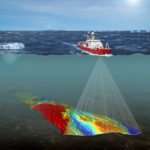 Illustration to show multibeam seabed sonar mapping from RRS James Clark Ross