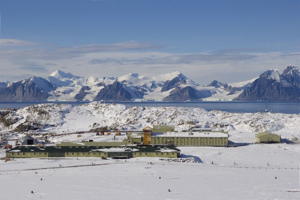 The British Antarctic Survey's Rothera Research Station at Rothera Point,  Adelaide Island, Antarctica