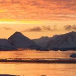 Sunset over Adelaide Island, Antarctic Peninsula.