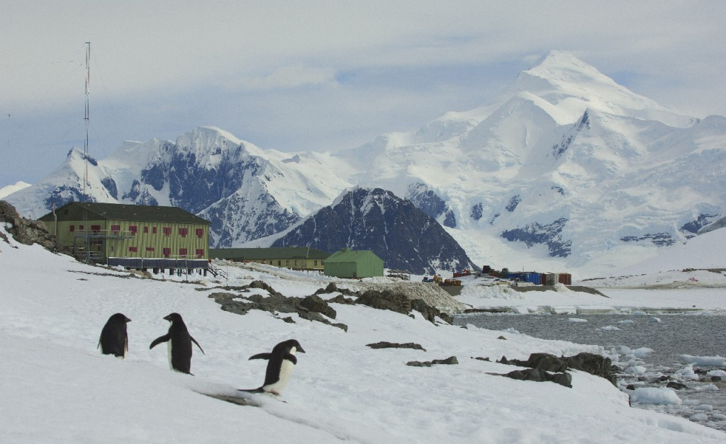 A white Christmas in store for Rothera Research Station. (Photo: British Antarctic Survey)