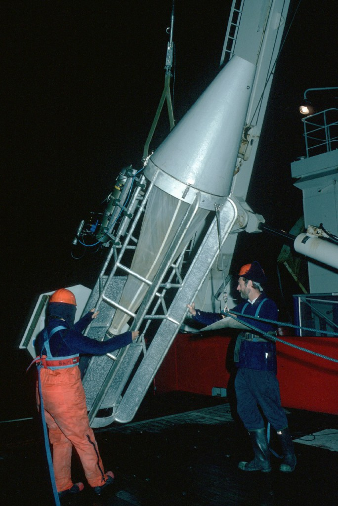 The LHPR is deployed during darkness from the James Clark Ross off South Georgia LHPR - Longhurst-Hardy Plankton Recorder.