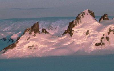 Nunataks at the southern end of the Antarctic Peninsula