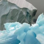 Sculptured blue iceberg in North Bay, Rothera Point , Adelaide Island