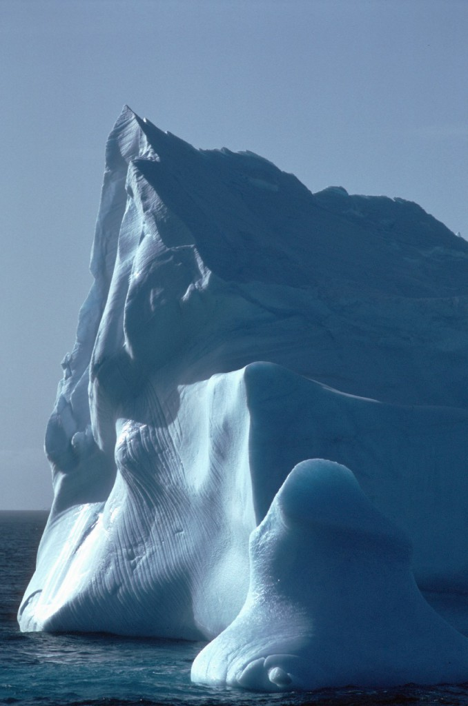 Sculptured Ice berg in the Weddell sea