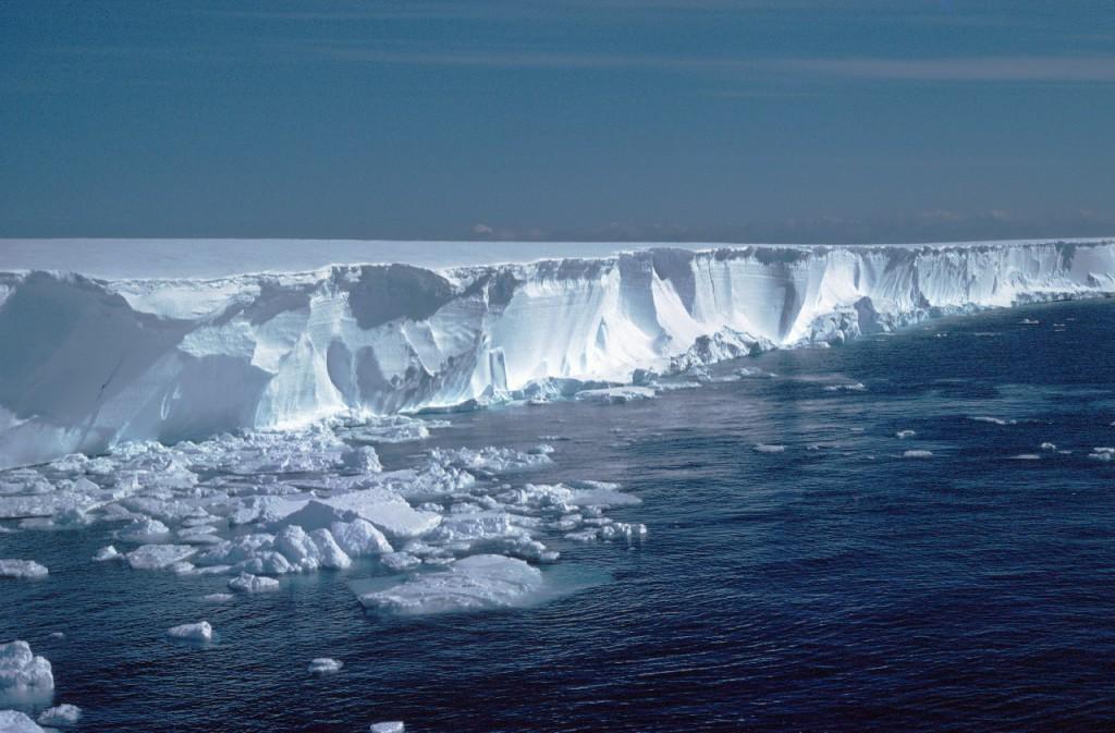 Ice cliffs of the Brunt Ice Shelf near Mobster creek