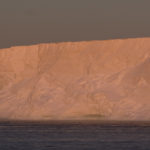 Antarctic Ice Shelf lit by the midnight sun