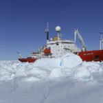 RRS James Clark Ross research vessel in sea ice