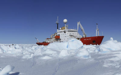 RRS James Clark Ross during the JR240 IceBell Cruise to study sea ice in the Weddell and Bellingshausen Seas
