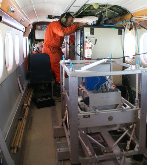 Gravity system installed in Twin Otter aircraft.