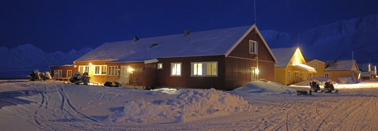 The NERC's UK Arctic Research Station, run by the British Antarctic Survey, at Ny Alesund on Svalbard