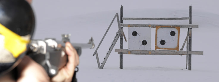 Rifle training is part of the Polar Bear Awareness training undertaken by all staff working at Ny Alesund