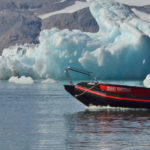 Workboat in operation in waters around Northern Svalbard