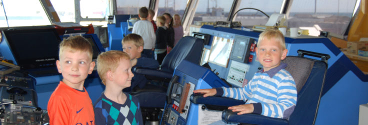 A school visit to the RRS Shackleton during a visit to Orskov in Norway