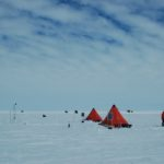 Glaciology field camp on Pine Island Glacier, West Antarctica.