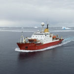 RRS James Clark Ross (JCR) steams 'south' towards Rothera Research Station