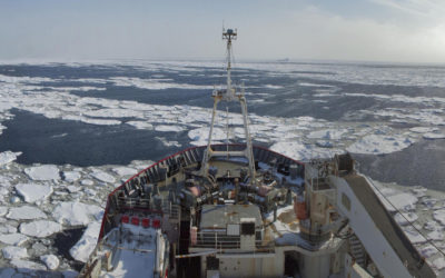 RRS James Clark Ross in Northern Marguerite Bay, off Adelaide Island, Antarctica