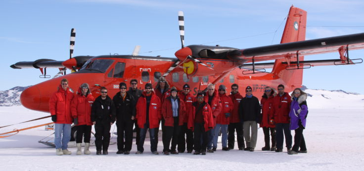 AGAP field team with BAS twin otter survey aircraft.