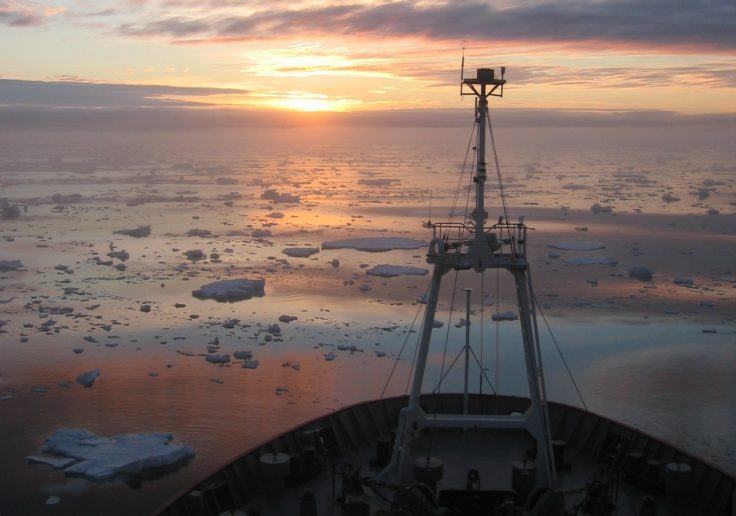 RRS James Clark Ross in the Amundsen Sea, Antarctica